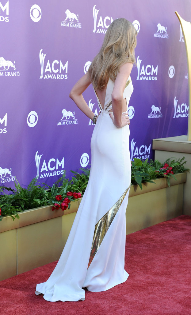 Taylor Swift Steps It Up in Sexy J. Mendel Dress For ACM Awards