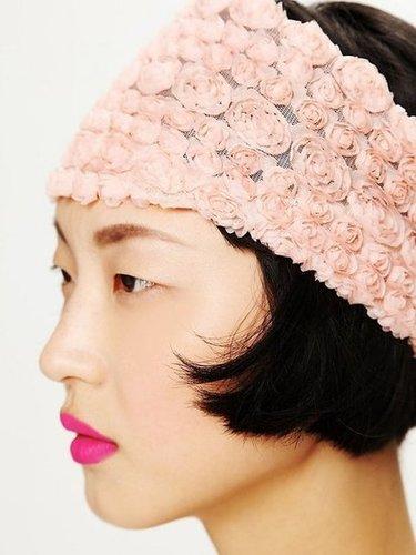 Free People Tatty Floral Gauze Headwrap