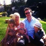 Pregnant Tori Spelling spent Easter with husband Dean and their three kids.
