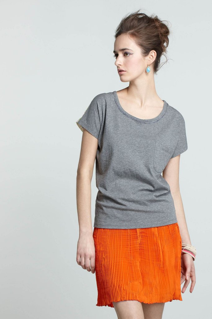 Anthropologie Made in Kind  Faded Pleat Skirt, $98