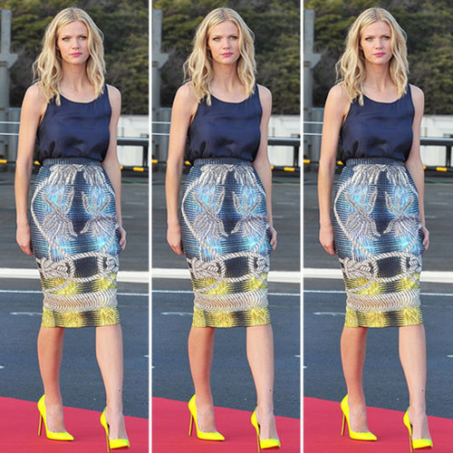 Brooklyn Decker Printed Pencil Skirt