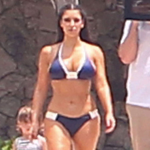Kim and Kourtney Kardashian Bikini Pictures With Mason
