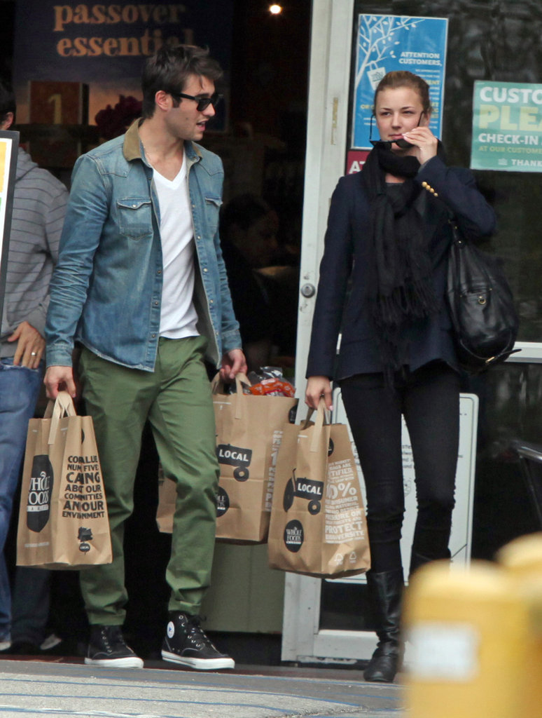 Emily VanCamp and Joshua Bowman went shopping at Whole Foods.