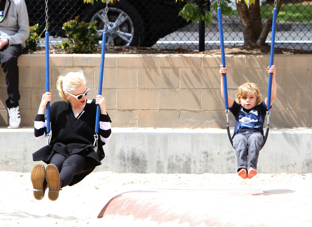 Gwen Stefani had on the swings with Kingston at an LA playground.