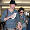 Channing Tatum and Jenna Dewan Pictures at LAX