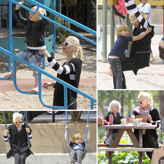 Gwen Stefani Treats Zuma and Kingston to a Picnic and a Park Playdate