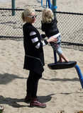 Gwen Stefani helped Zuma on the playground in LA.