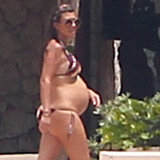 Kourtney Kardashian wore a bikini while pregnant.