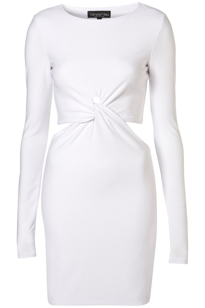 This LWD has serious sex appeal.  Topshop Tall Twist Cutout Bodycon ($72)