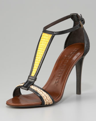Rock these with a form-fitted LWD. Burberry T-Strap Sandal ($795)