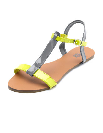 We love a fun colorblock and this sandal does it well. Charlotte Russe Colorblock T-Strap Sandal ($16)