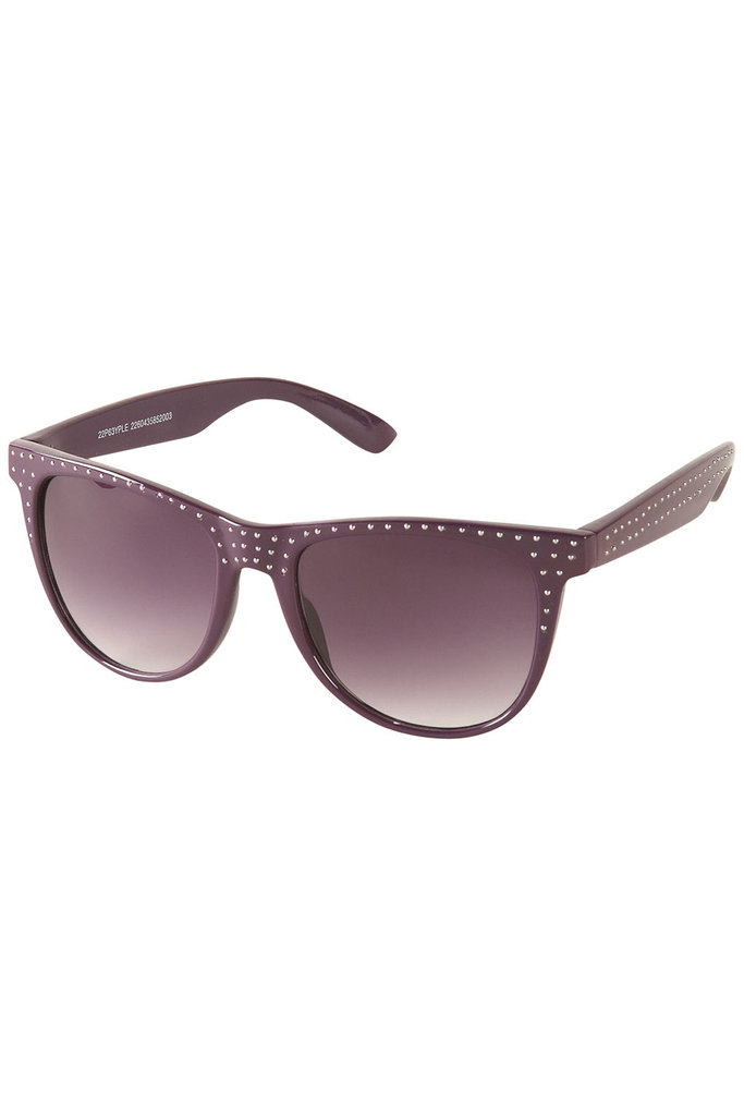 Topshop Purple Studded Flat Top Sunglasses ($32)