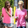 Miranda Kerr Hot-Pink Sweater