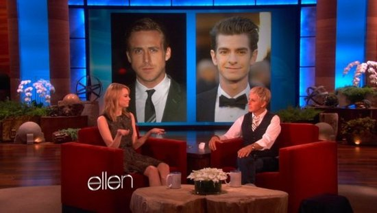 Video: Emma Stone Compares Kissing Ryan Gosling and Andrew Garfield