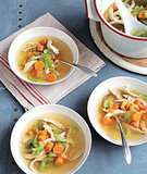 While matzo ball soup is completely delish, those heavy matzo-meal balls can pack on the calories. Want to revamp the flavors in a healthy way? Take on a recipe for some classic chicken soup.