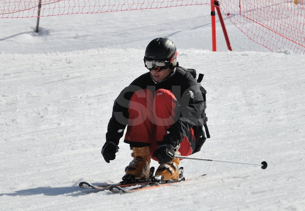 Prince William headed down the slopes on vacation in France with the Middleton family.