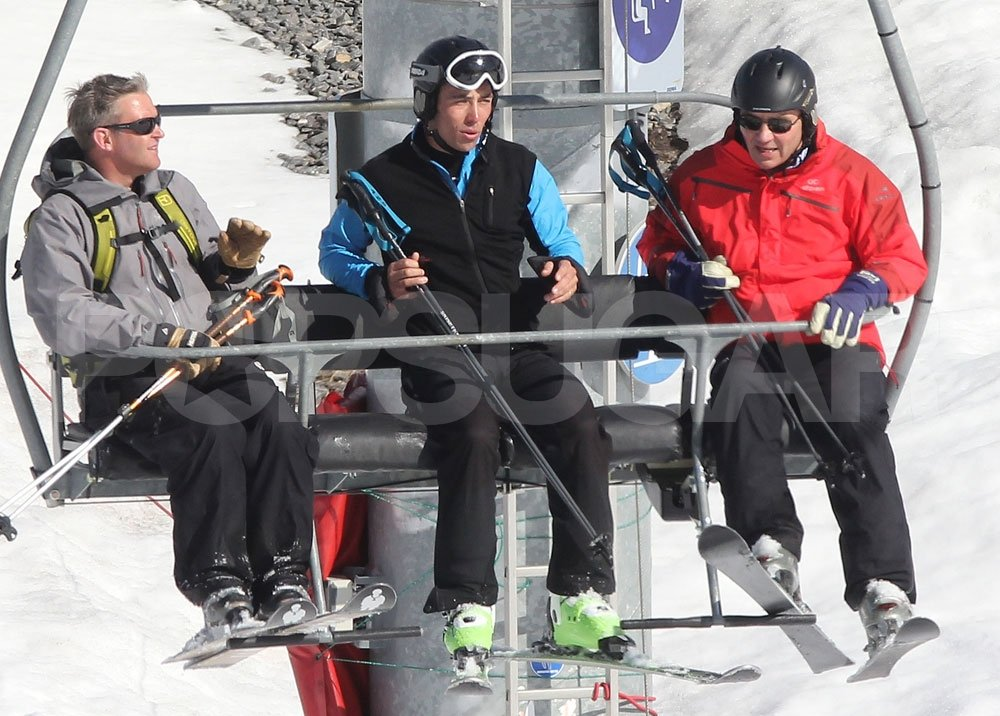 James Middleton with his father, Michael Middleton, on a ski vacation in France.