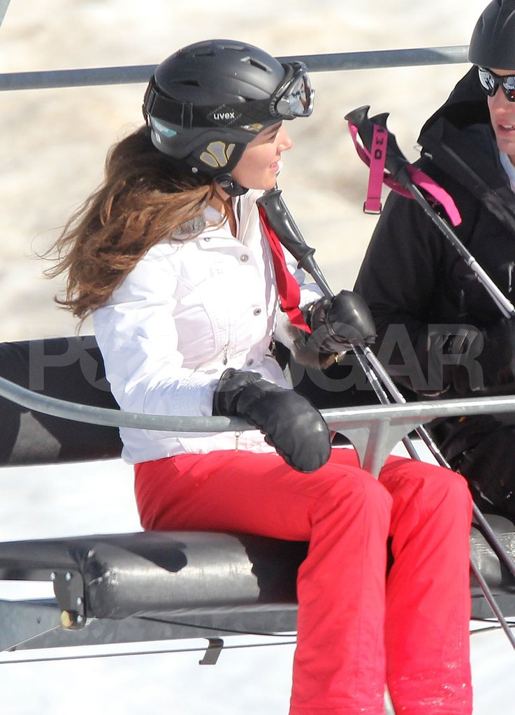 Kate Middleton chatted while riding the lift up the mountain in France.