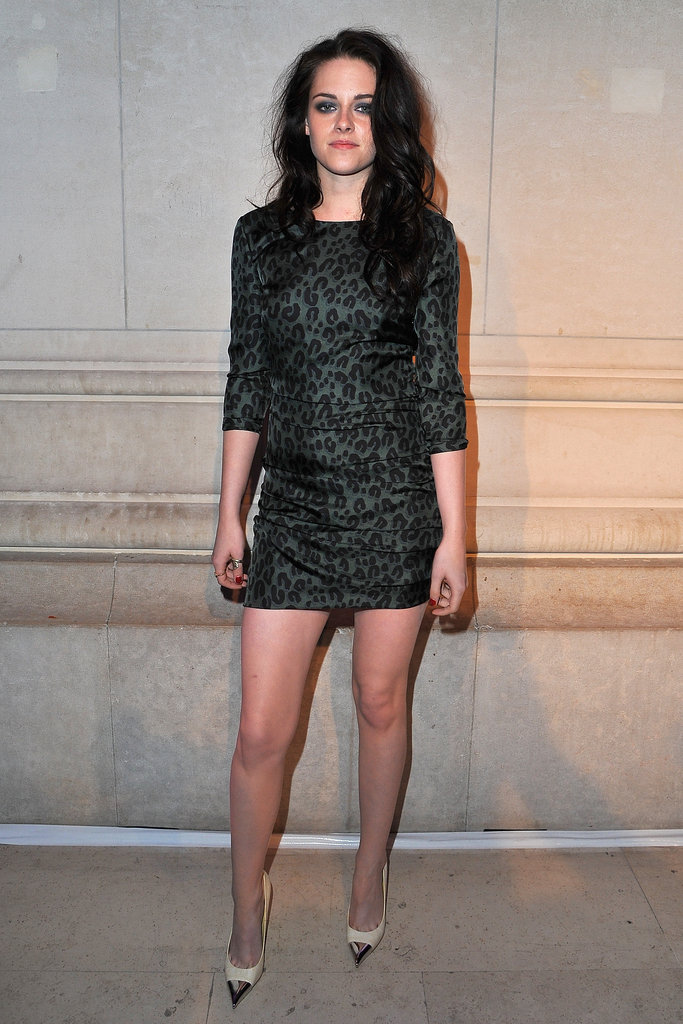Kristen Stewart attended a Louis Vuitton bash during Paris Fashion Week in March 2012.