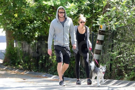 Miley and Liam Take a Romantic Stroll With Their Best Friend