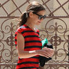 Katie Holmes Wearing Stripes in LA Pictures