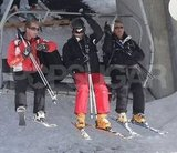 Prince William and George Percy raised the bar of the chairlift on a ski vacation with the Middletons in France.