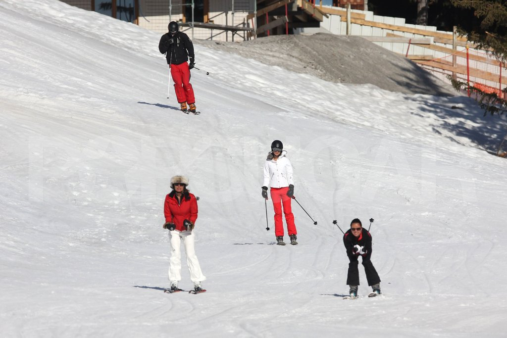 Carole Middleton led the way for Kate Middleton and Prince William while on a ski vacation in France.