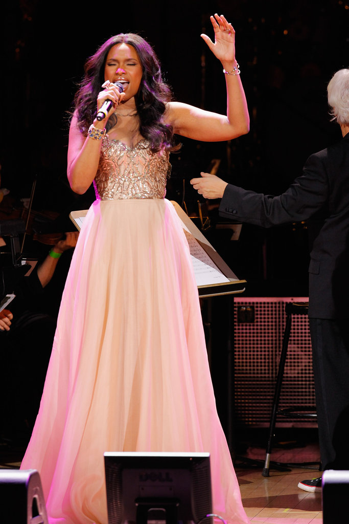 Jennifer Hudson gave a performance at the Revlon Concert for the Rainforest Fund at Carnegie Hall in NYC.