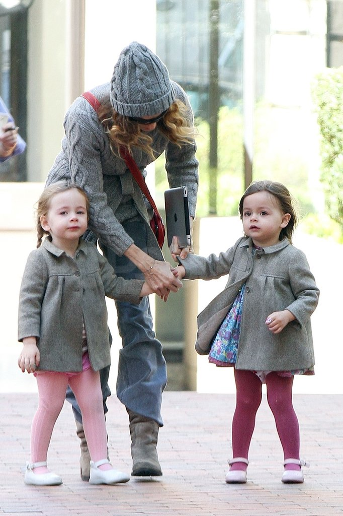 Sarah Jessica Parker picked up Tablitha and Loretta Broderick from school in NYC.