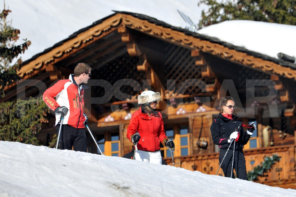Carole Middleton and George Percy congregated at the top of the mountain on vacation in France.