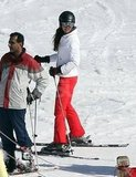 Kate Middleton got on her skis on vacation in France.