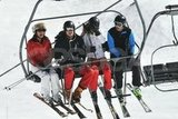 Carole Middleton, Prince William, Kate Middleton, and James Middleton shared a ride on the chairlift while vacationing as a family in France.