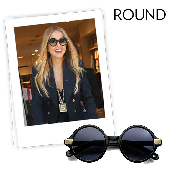 Why we love them: Round sunglasses have that awesome retro-cool aesthetic that we crave — just the way Rachel Zoe added a pair of Cutler and Gross frames to perk up her look. They're totally on-trend and there are more than a few iterations to zero in on the look. How to wear them: These frames have subtle personality that translate easily from day to day, occasion to occasion. They may feel most at home with a pair of vintage-feeling flares, but don't underestimate how fresh they'll feel with a fresh pair of pastel jeans and a crisp white blouse. Keep your frames smaller if you're timid about the trend, or look for styles that are flat on top and rounded on the bottom to channel the look without making a big commitment. Elizabeth and James Metal Accented Round Plastic Sunglasses ($185)