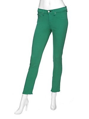 We can't get enough of Spring's most vibrant colors. Case in point: this pair of Kelly green twill jeans.  Rag & Bone/jean Exclusive Midrise Skinny ($149, originally $185)