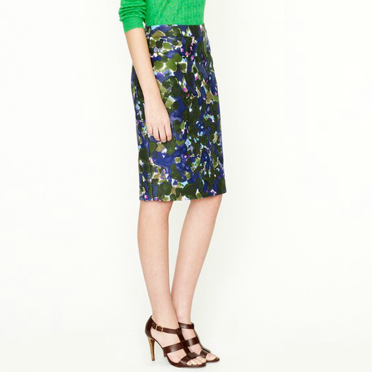 Reminiscent of Erdem's bold bouquets and Dolce & Gabbana's mix of hues, this slick floral version can easily translate into your work wardrobe with a pair of smart pumps and a lightweight sweater. J.Crew No. 2 Pencil Skirt in Gardenshade Floral ($98)