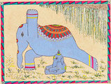This Warrior I Elephant ($51) would be a welcome addition to any sacred space or girlie bedroom wall.