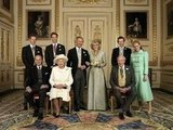 The royal family got together after the wedding of Prince Charles and his former mistress, Camilla, Duchess of Cornwall, on April 9, 2005.