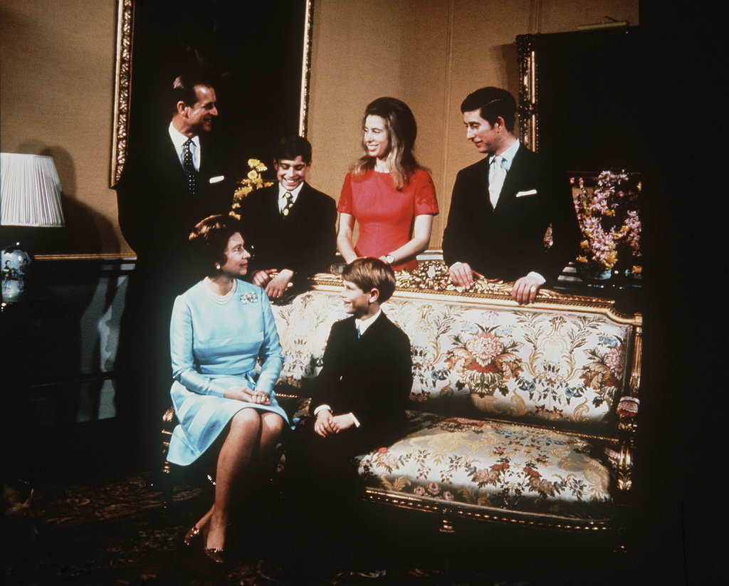 The royal family posed for a photo at Buckingham Palace in 1972.