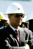 The Duke of Edinburgh sported a helmet during an official visit to Tanzania on July 19, 1979.