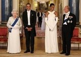 Prince Philip made First Lady Michelle Obama laugh before a state banquet on May 24, 2011, in London, England.