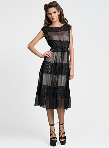 Tracy Reese chiffon lace dress ($209, originally $348)