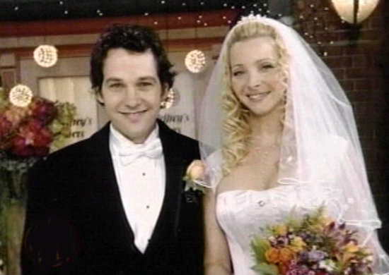 Paul Rudd played the groom to Lisa Kudrow's Phoebe on Friends from 2002 to 2004.