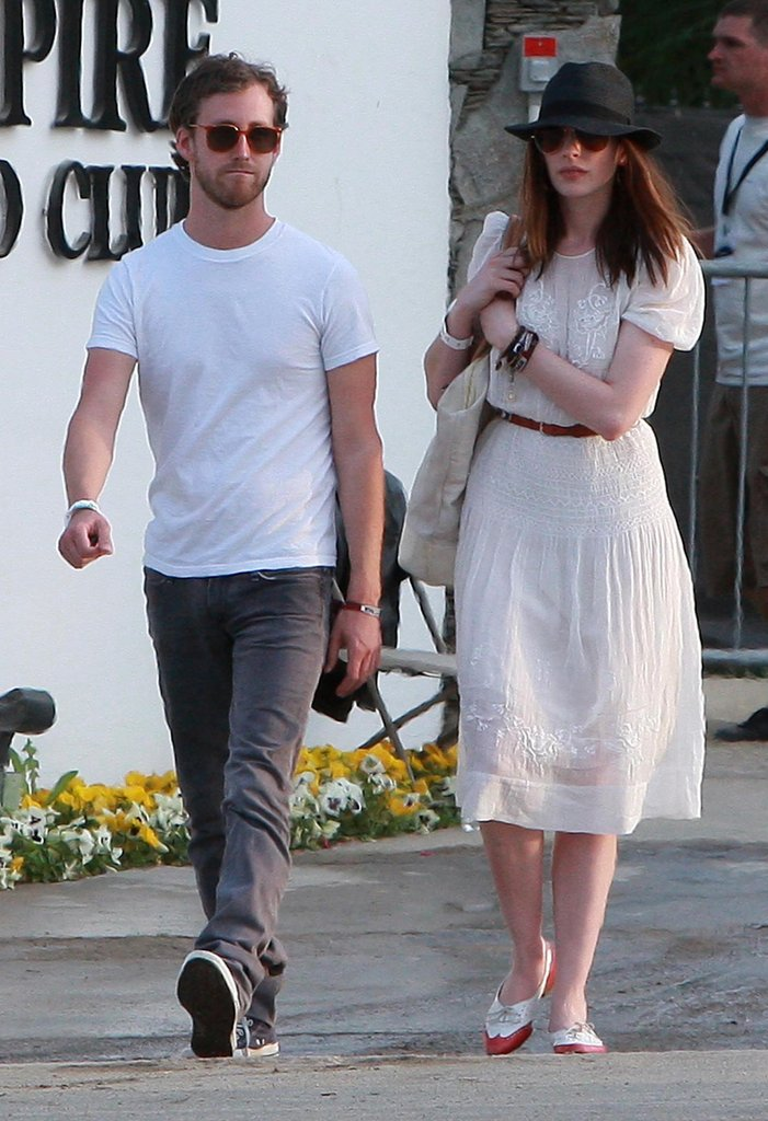 Anne Hathaway and Adam Shulman coupled up for Coachella in 2010.