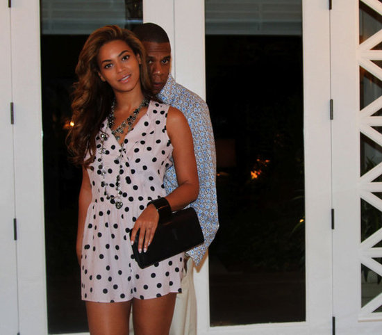 Beyoncé Knowles and Jay-Z took a sweet candid.