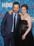 Producer Judd Apatow got together with creator Lena Dunham at HBO's Girls premiere in NYC.