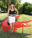 Malin Akerman took a break from the music to attend Lacoste's 2011 bash.