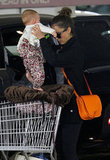 Jessica Alba removed Haven Warren from the shopping cart while leaving Whole Foods in LA.