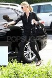 Charlize Theron returned to her car in LA.