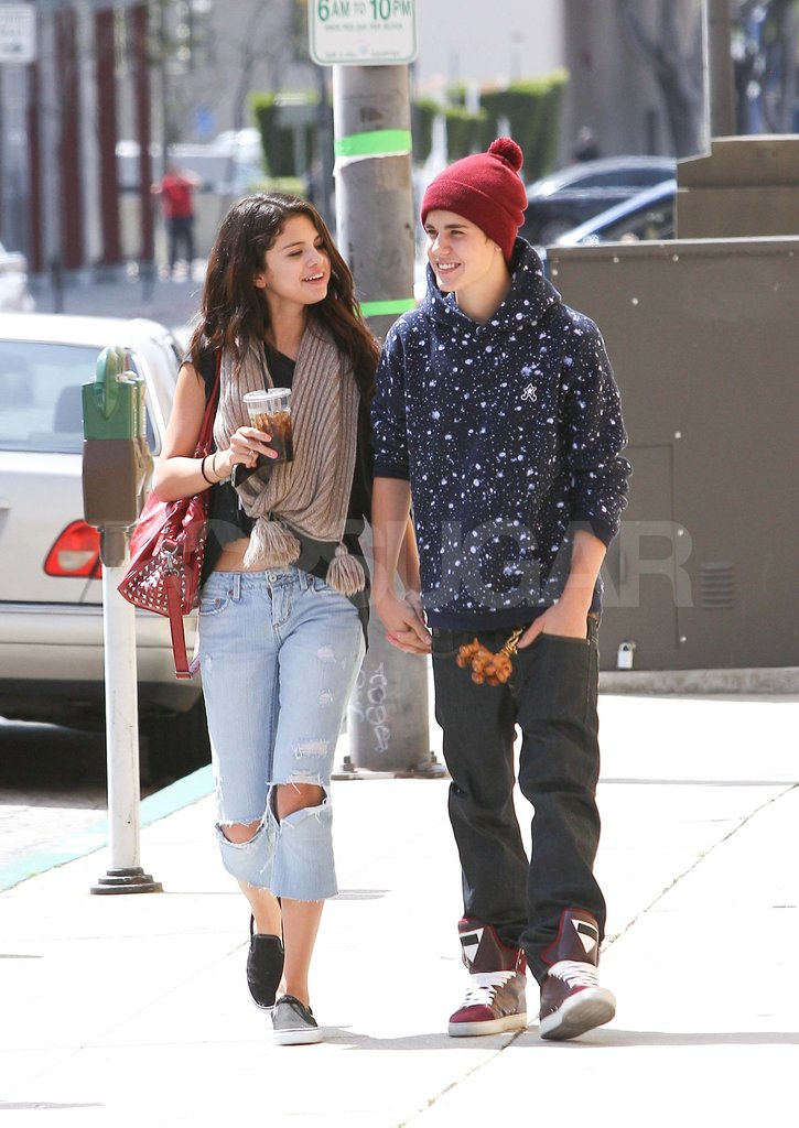 Selena Gomez and Justin Bieber held hands in LA.