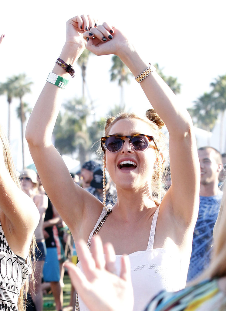 Whitney Port danced in the crowd in 2011.